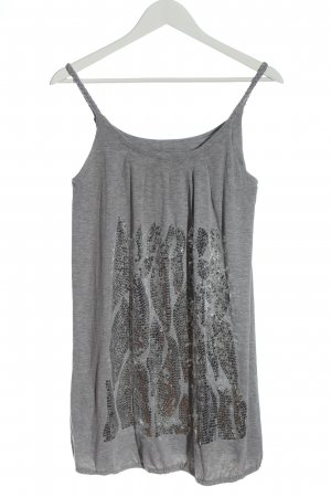Influence Long Top light grey flecked casual look