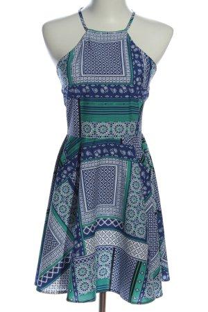 Influence Vestido de cuello Halter estampado con diseño abstracto look casual