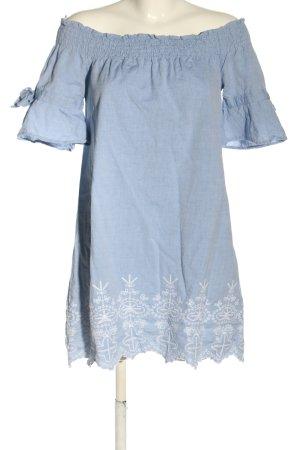 Influence Blusenkleid blau-weiß abstraktes Muster Casual-Look