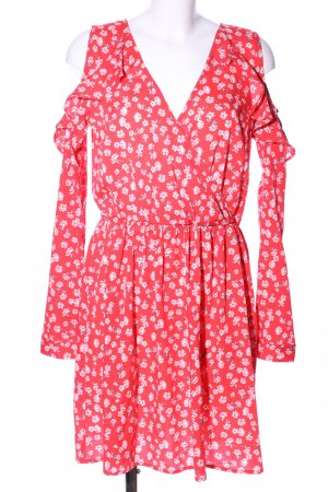 Influence Off-The-Shoulder Dress red-white allover print casual look