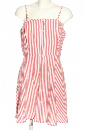 Influence Pinafore dress white-pink striped pattern casual look