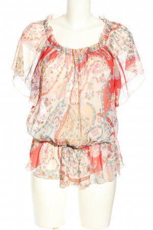 Influence Transparenz-Bluse abstraktes Muster Casual-Look
