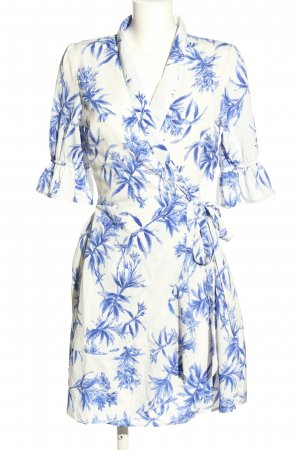 Influence Wraparound blue-white allover print casual look