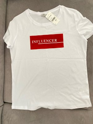 Pimkie T-Shirt white-red
