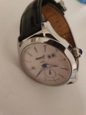 Ingersoll Horloge met lederen riempje zwart