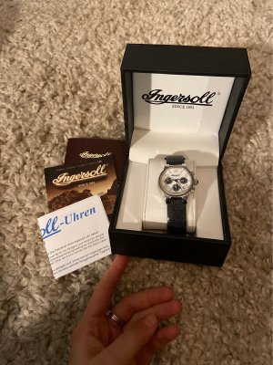 Ingersoll Watch With Leather Strap black