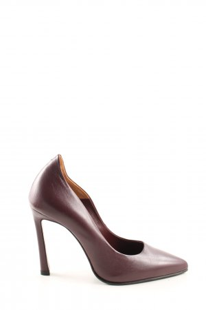 INGILIZ Spitz-Pumps braun Business-Look