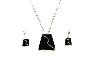 Collier nero-argento