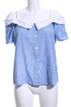 Innocence Kurzarm-Bluse blau-weiß Streifenmuster Casual-Look