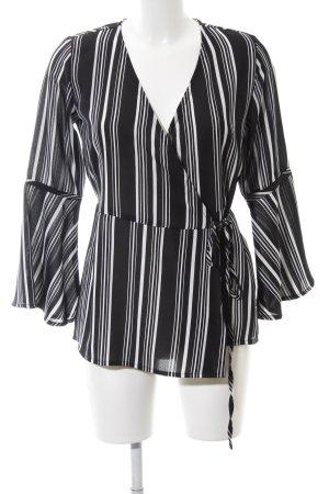 Innocence Wickel-Bluse schwarz-weiß Streifenmuster Elegant