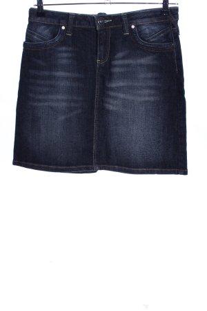 InScene Jupe en jeans bleu style décontracté