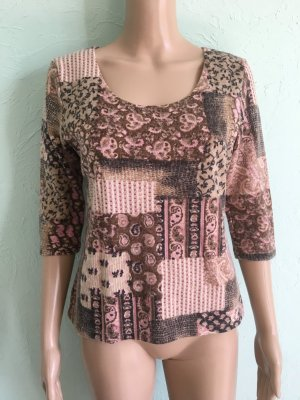 InScene Vintage Pullover Paisley Patchwork Flauschig Wolle