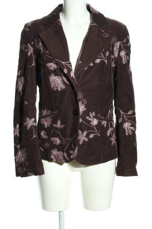 InScene Woll-Blazer braun-creme Blumenmuster Elegant