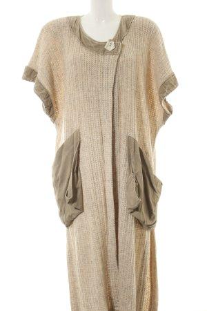 inSein Knitted Coat cream-khaki flecked casual look