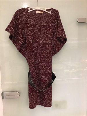 Inside Robe en maille tricotées rouge foncé