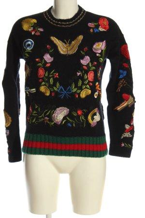 Insieme Sweter z grubej dzianiny Wzór w kwiaty W stylu casual