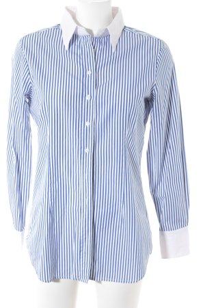 Insieme Langarmhemd weiß-blau Streifenmuster Business-Look