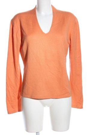 Insieme V-Ausschnitt-Pullover hellorange Casual-Look