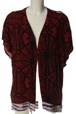 Insight Smanicato lavorato a maglia rosso-nero stampa integrale stile casual