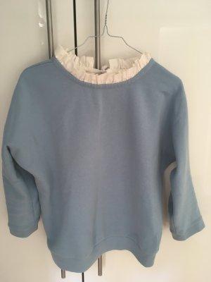 Insta Süsser Pulli Babyblau Claudine Pierlot Paris Pullover Kragen XS
