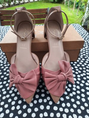 M&S Collection Strapped High-Heeled Sandals gold-colored-pink leather