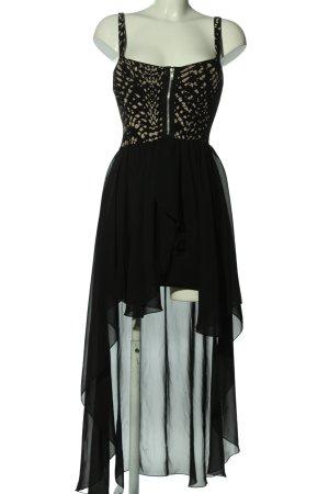 Instyle Asymetryczna sukienka czarny-w kolorze białej wełny Abstrakcyjny wzór