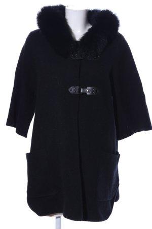 Interdee Paris Fashion Kurzmantel schwarz Casual-Look