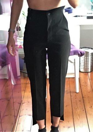 Interessante schwarze Stoffhose von Dixie, 34