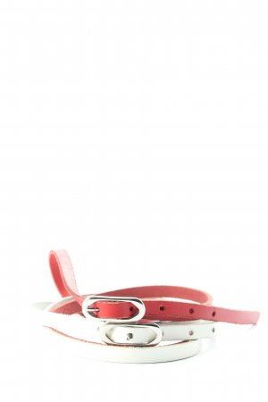 Intermoda Double Belt red-white casual look