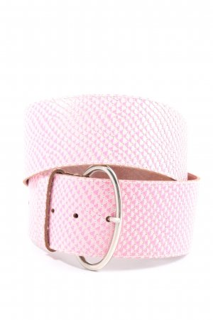 Intermoda Leather Belt pink-white allover print casual look