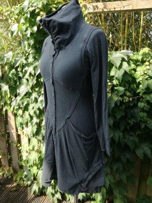 Interssantes Sweat-Kleid, dunkelblau-grau