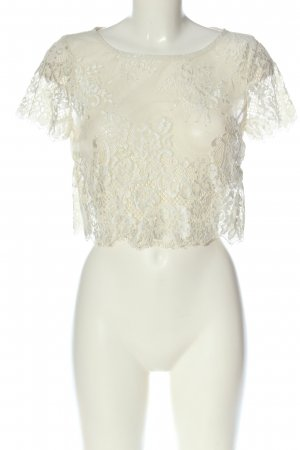 Intimissimi Blusa in merletto bianco sporco stile casual