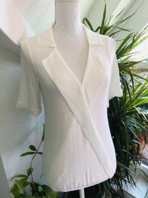 Intimissimi Damen luftig leichtes Blusenshirt mit Bündchen weiß S 36/38