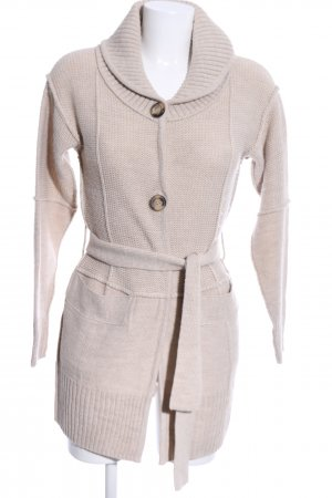 Intimissimi Grobstrickjacke wollweiß Business-Look