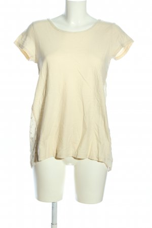 Intimissimi Kurzarm-Bluse creme Blumenmuster Casual-Look