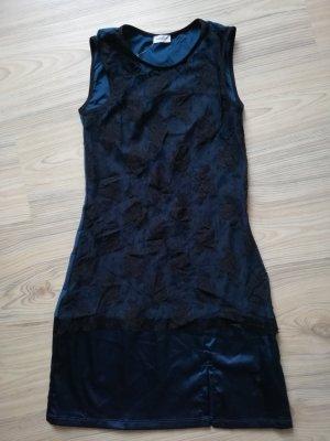 Intimissimi Negligee Minikleid gothic Kleid petrol schwarz Spitze Gr. S 36 34 XS