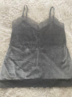 Intimissimi Top z cienkimi ramiączkami antracyt-srebrny