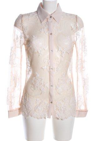 Intimissimi Transparenz-Bluse creme Blumenmuster Elegant