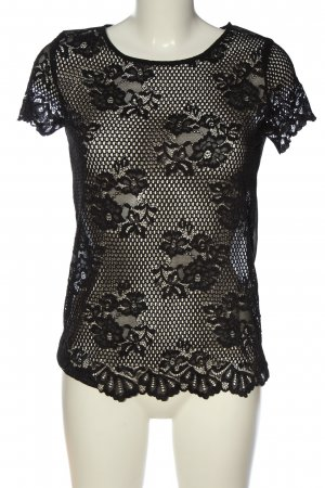 Intimissimi Transparenz-Bluse schwarz Webmuster Elegant