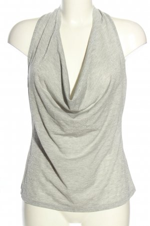 Intimissimi Cowl-Neck Top light grey-silver-colored flecked elegant