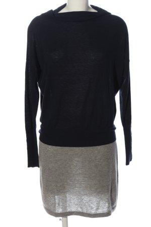 Intrend Pulloverkleid schwarz-hellgrau Casual-Look