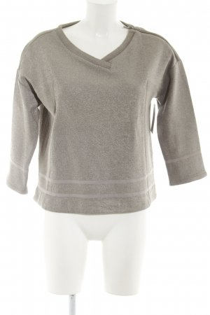 Intrend Rundhalspullover silberfarben-graubraun Casual-Look