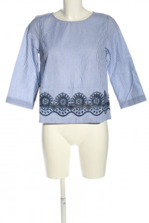 Intrend Schlupf-Bluse blau-weiß Streifenmuster Casual-Look