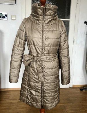 Intrend Pikowany płaszcz beżowy