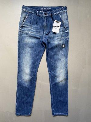 Denham Workowate jeansy błękitny Bawełna