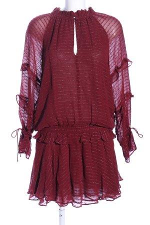 Intropia Chiffon jurk rood gestreept patroon casual uitstraling