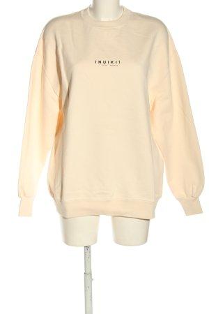 Inuikii Sweatshirt creme Schriftzug gedruckt Casual-Look