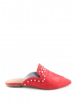 Inuovo Heel Pantolettes red-white casual look
