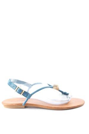 Inuovo Dianette sandalen blauw-bruin casual uitstraling