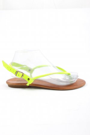 Inuovo Toe-Post sandals green casual look
